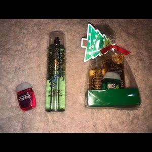 Mini mist, lotion, hand sanitizer & big spray